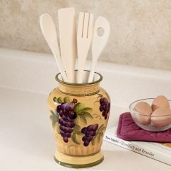 Kitchen Utensils Holder Pendant Lighting Bella Grapes Utensil With Set Touch To Zoom
