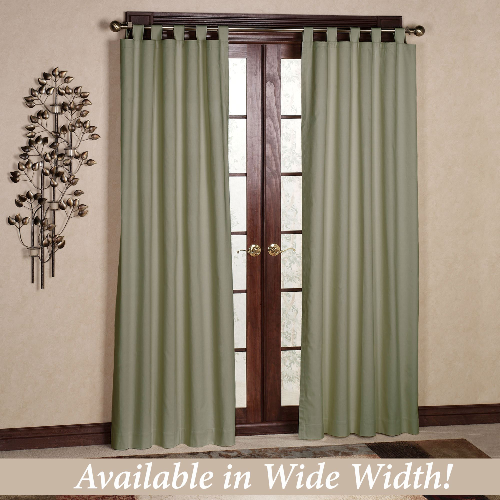 Weathermate Solid ThermalogicTM Tab Top Curtains