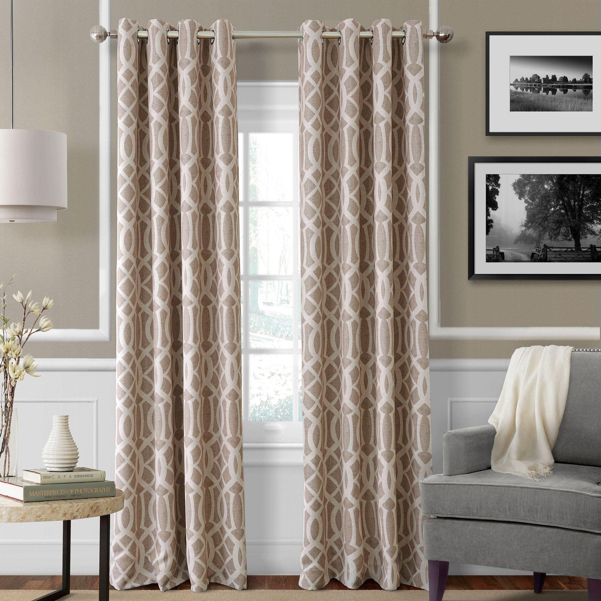 Harpar Room Darkening Grommet Curtain Panels