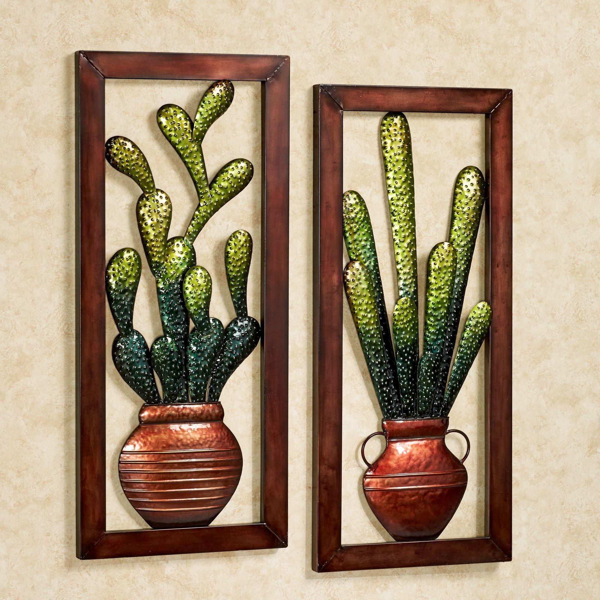 Cactus Metal Wall Art Set