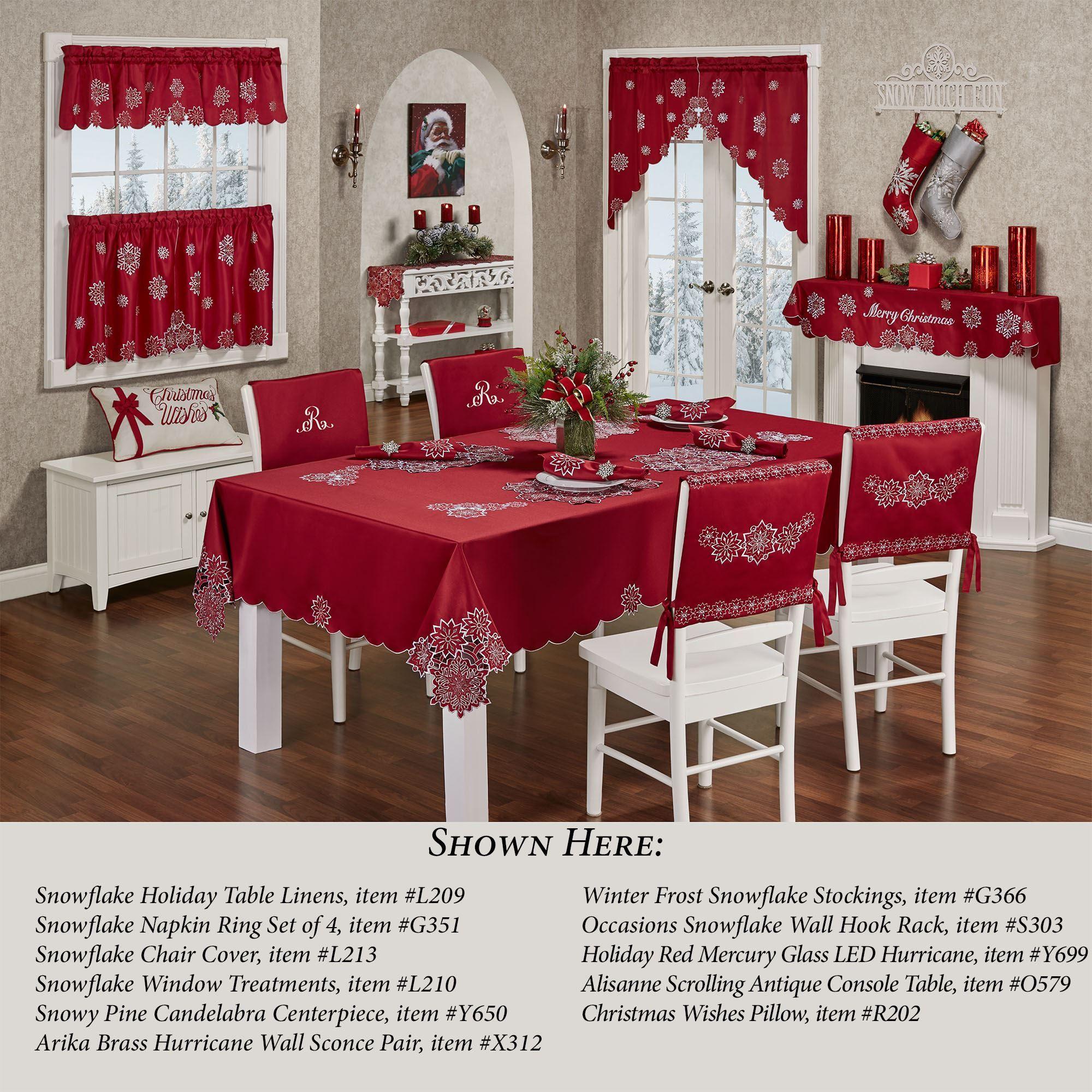 santa chair covers sets pink vanity snowflake dark red holiday cover set of 2 l213 001 4 jpg