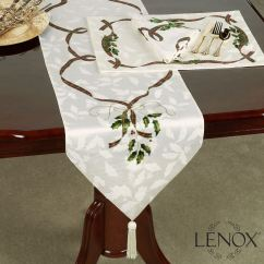 Lenox Christmas Chair Covers Barcelona Style Uk Holiday Nouveau Holly Table Runner Touch To Zoom