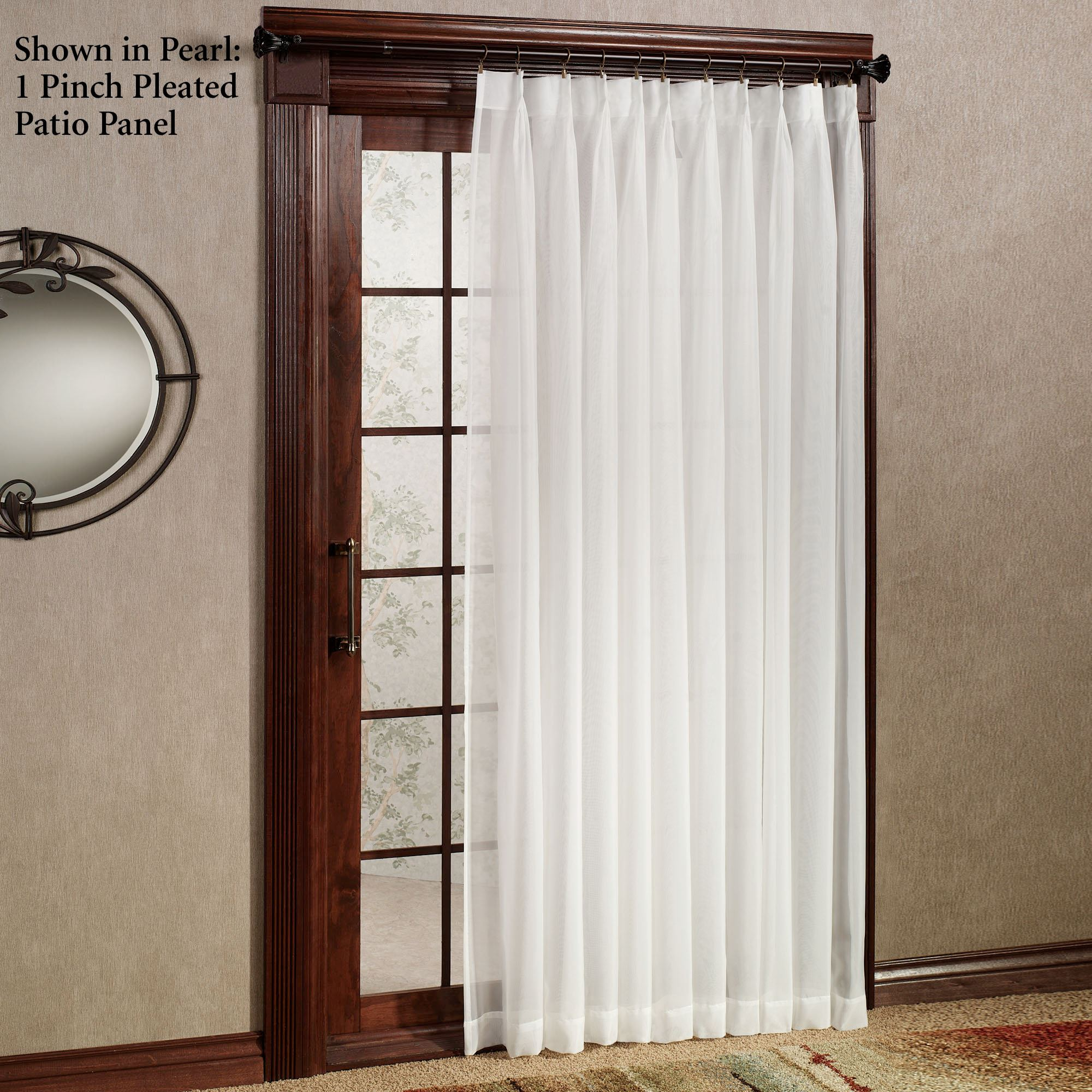 larvotto sheer voile pinch pleated patio panel