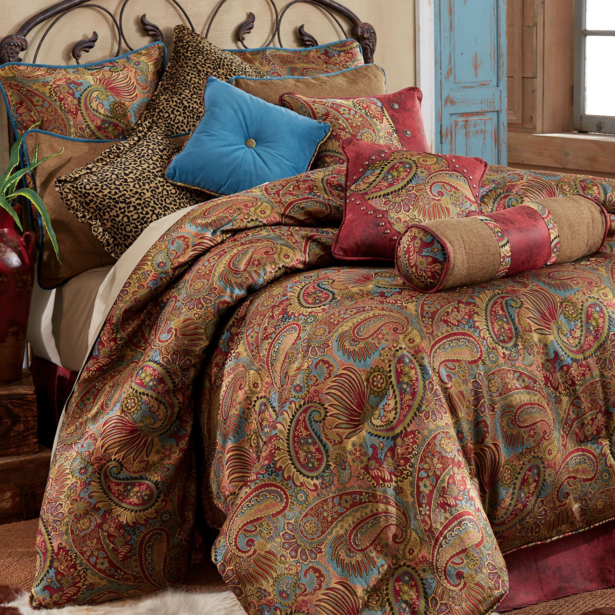 kitchen rug set tops cabinets san angelo paisley comforter bedding