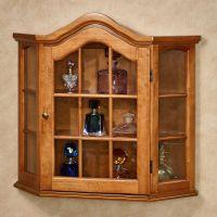 Ayden Wooden Wall Curio Cabinet