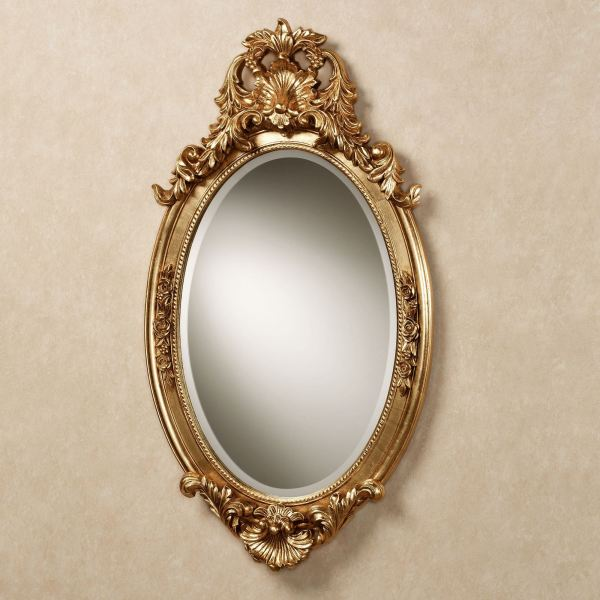 Gold Oval Wall Mirror