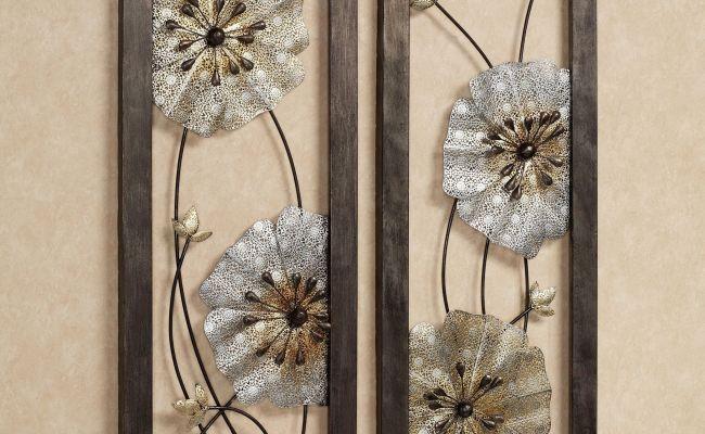 Malacia Openwork Floral Metal Wall Art Set