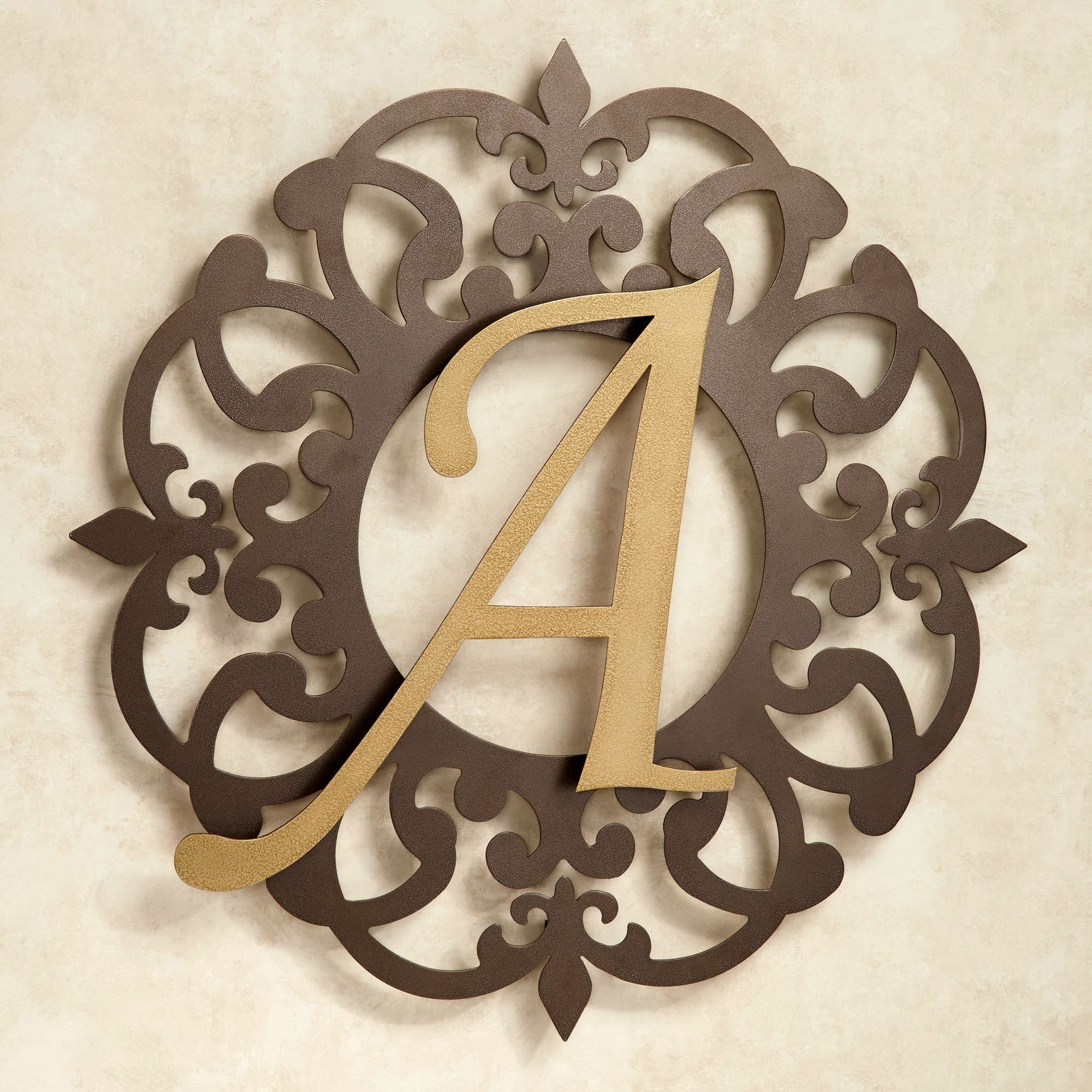 Heritage Monogram Metal Wall Art Sign Jasonw Studios