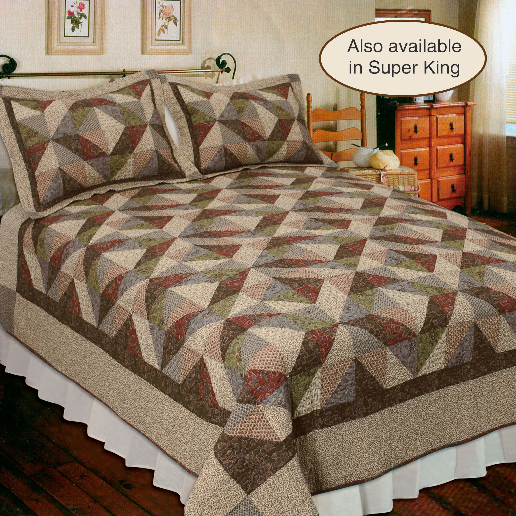 Country Cottage Cotton Patchwork Quilt Bedding