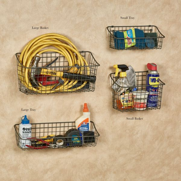 Basket And Tray Organizers Wall Pegboard