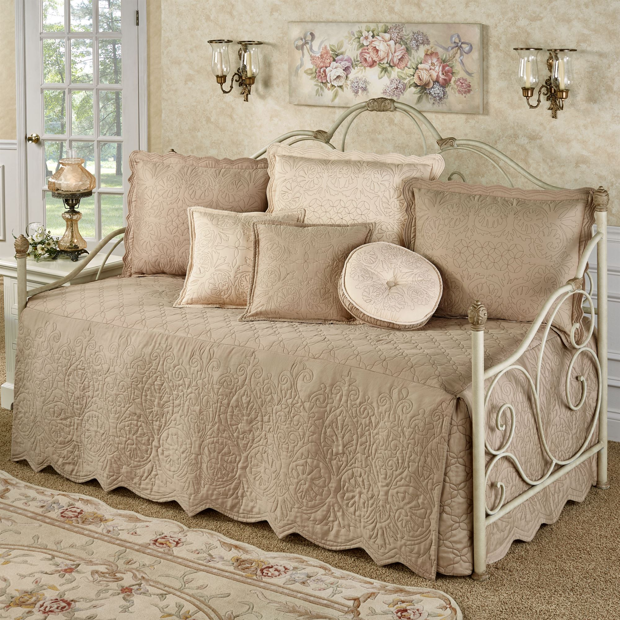 Everafter Almond Quilted Daybed Bedding Set