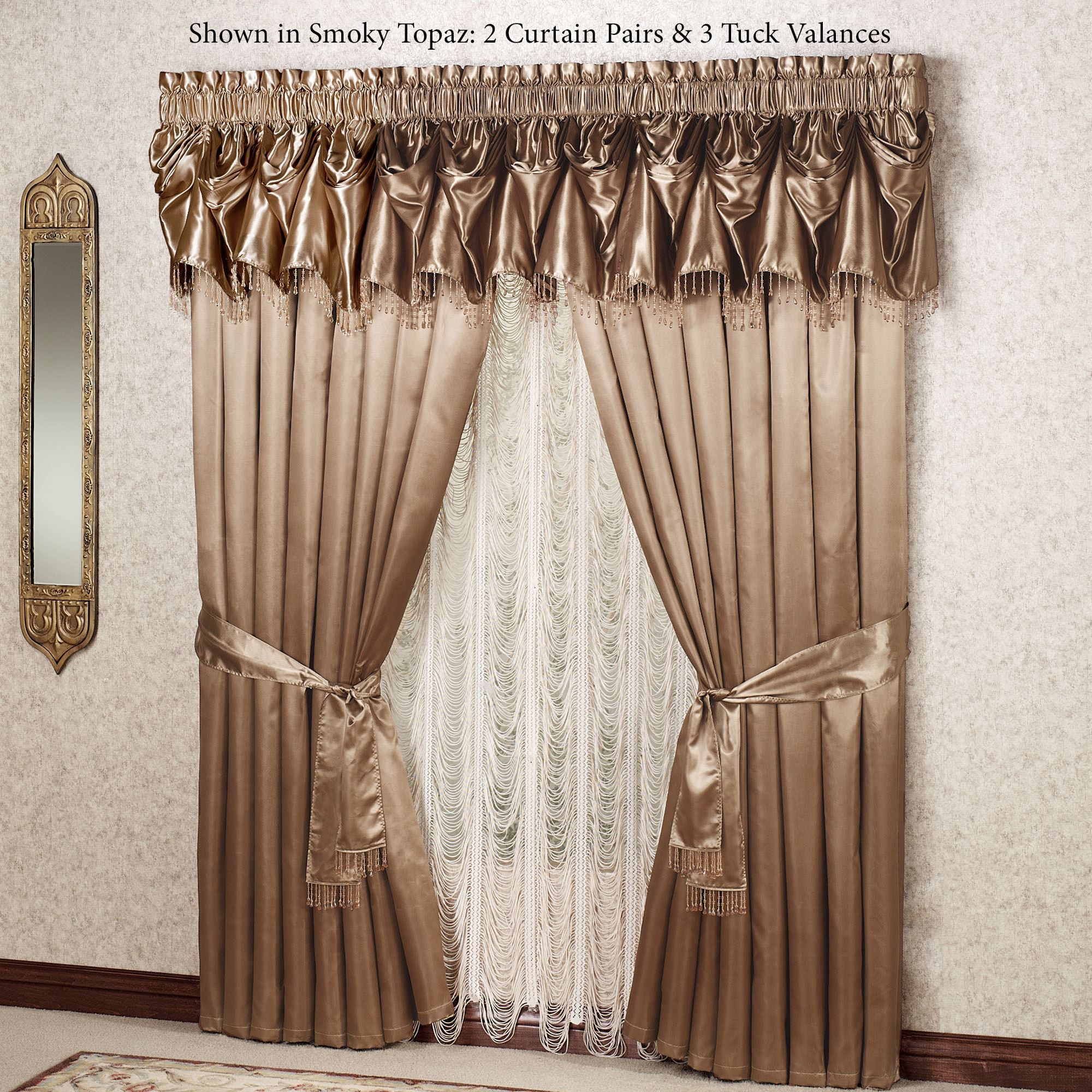 Portia Ii Tuck Valance Window Treatments