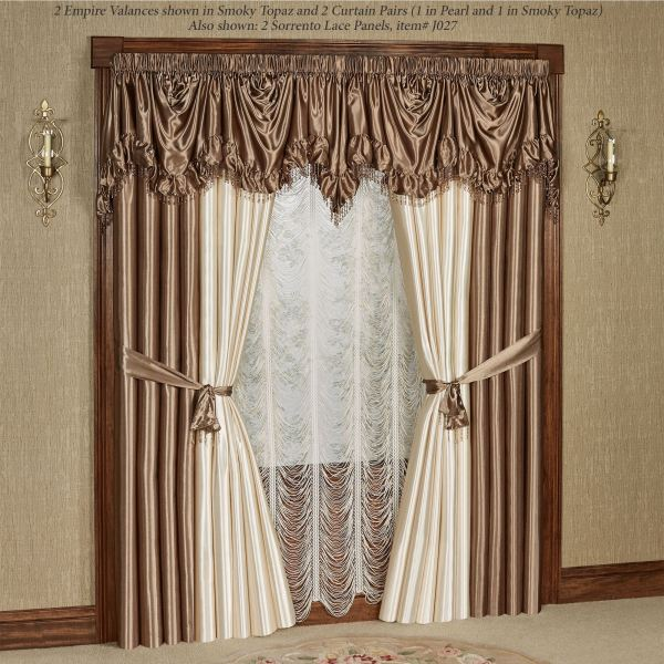 Portia Ii Poly Satin Empire Valance Window Treatments
