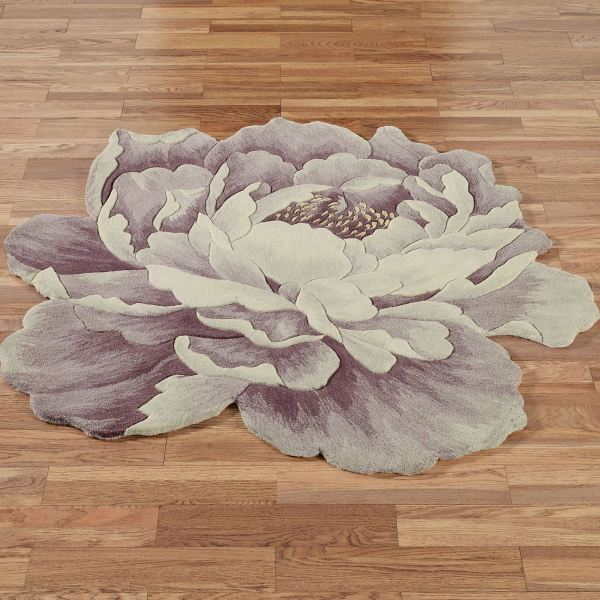 Peony Flower Rugs Round