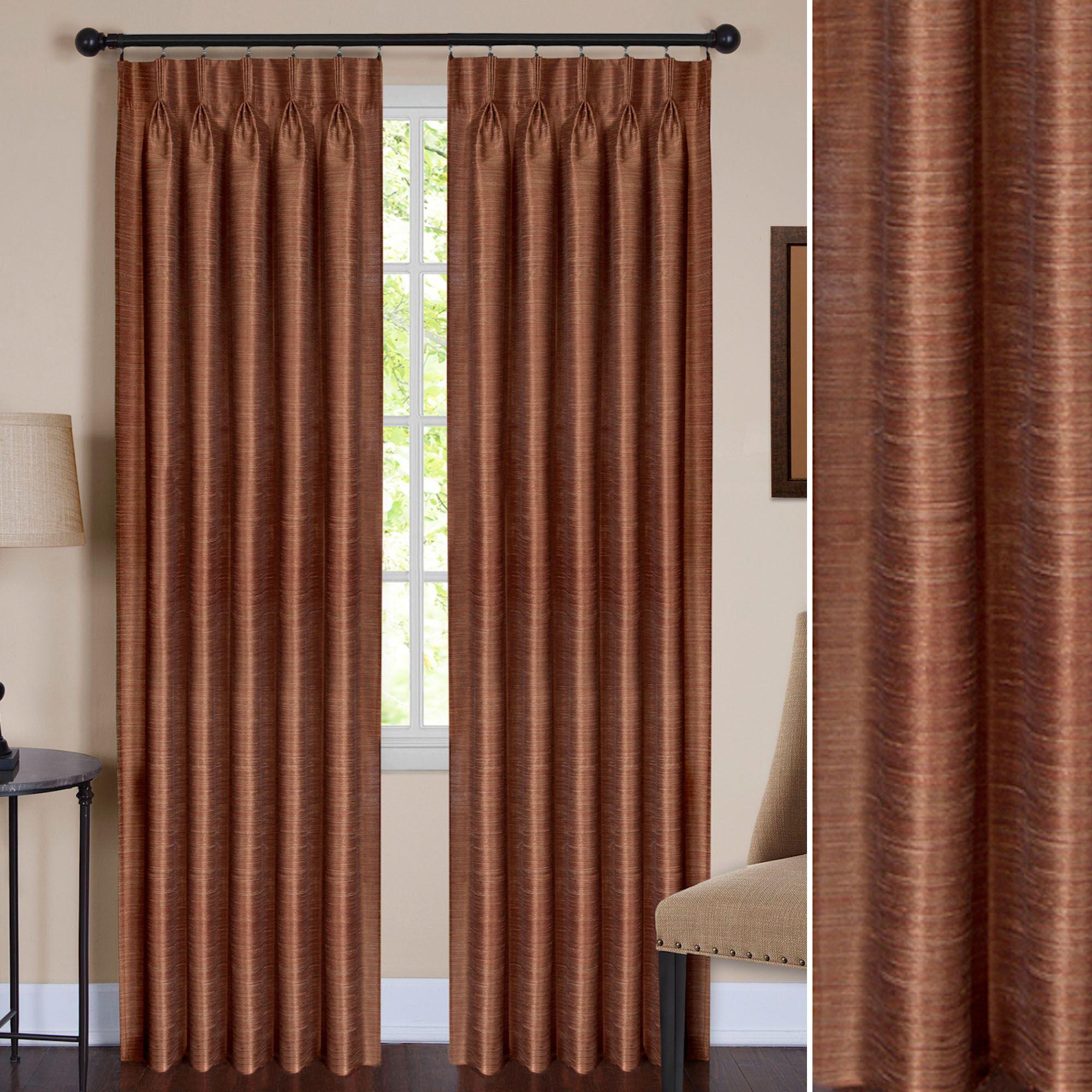 ezra semi sheer pinch pleat curtain panel