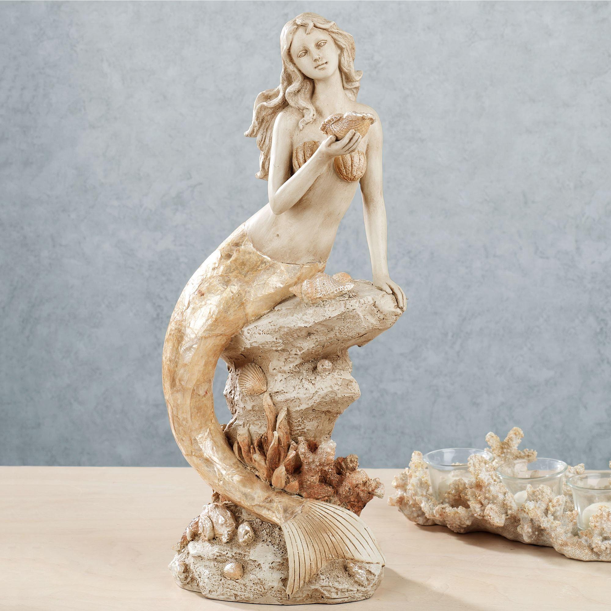 Moonlight Mermaid Table Sculpture