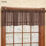 Shannon Semi Sheer Box Pleated Window Valance