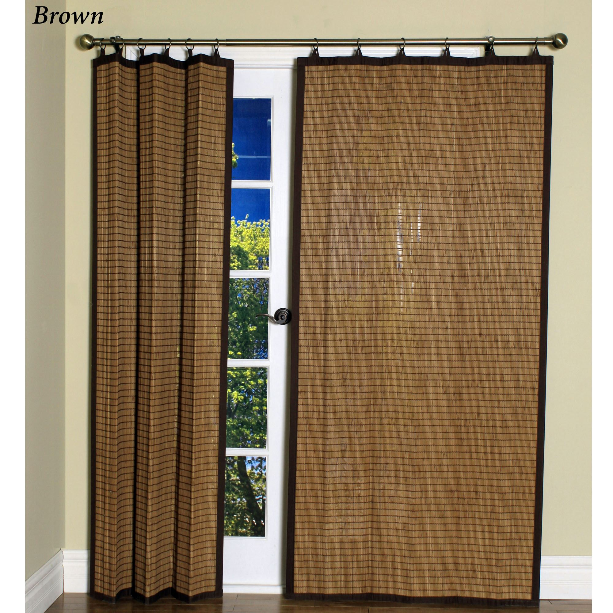 kitchen tier curtains drop in sink bamboo ring top curtain panels