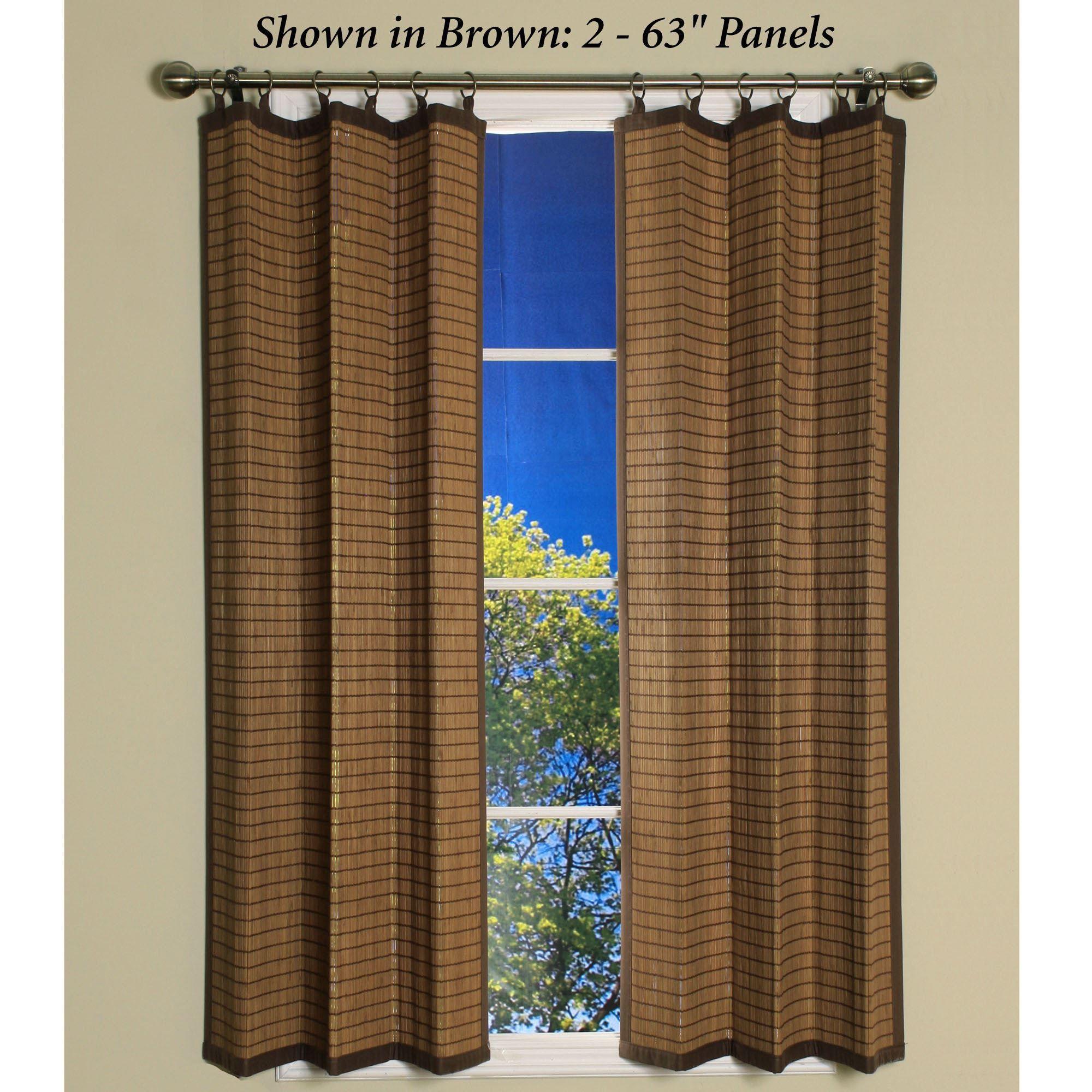 bamboo ring top window panel