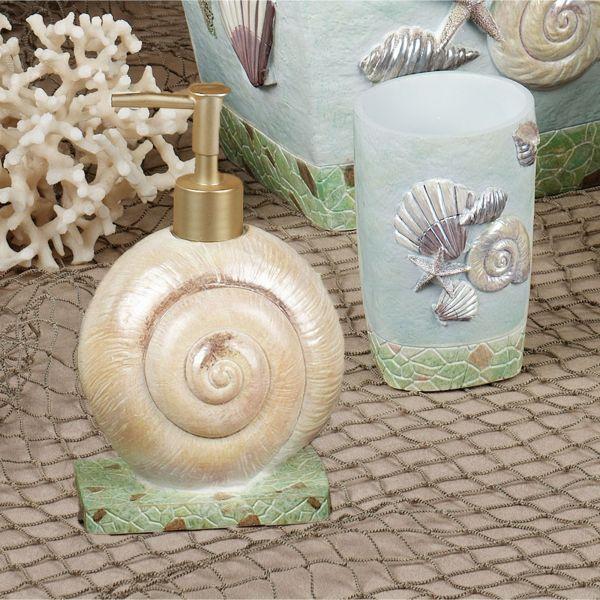 Beach Seashell Bathroom Accessories