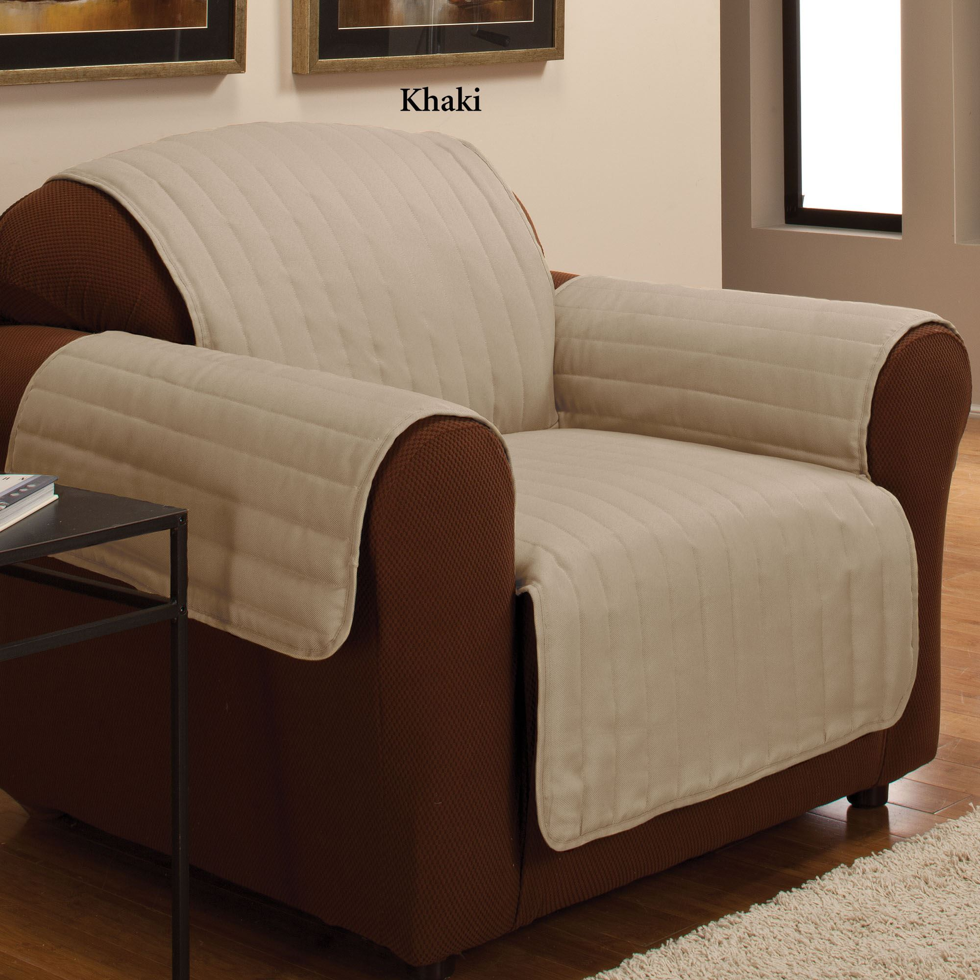 khaki sofa slipcovers family room design with brown leather twill pet furniture cover