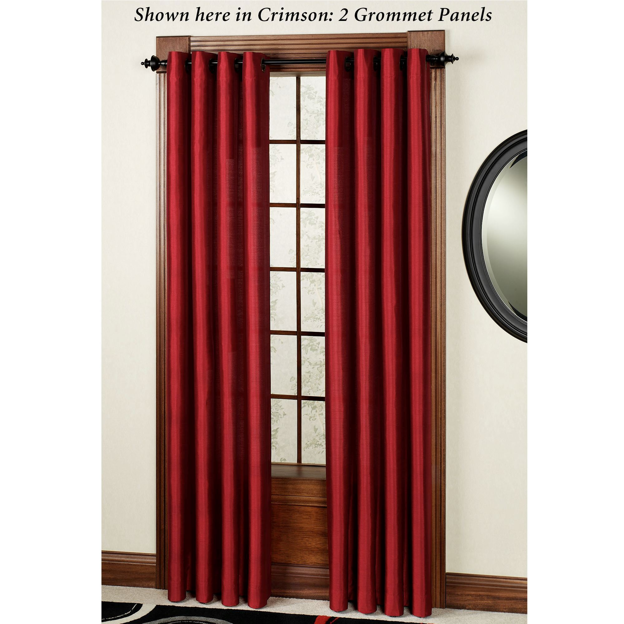 tribeca grommet curtain panel 84 to 120 lengths