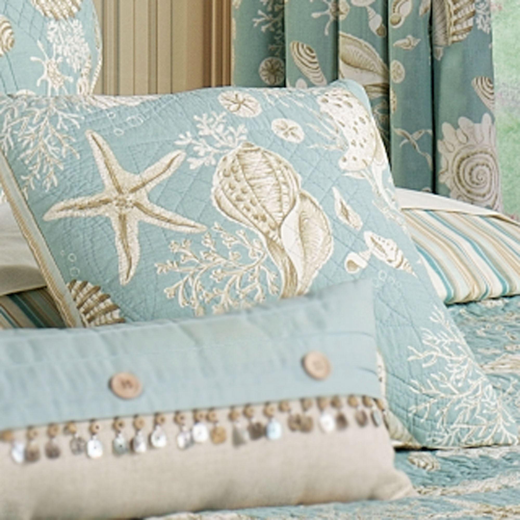 Natural Shells Coastal Quilt Bedding