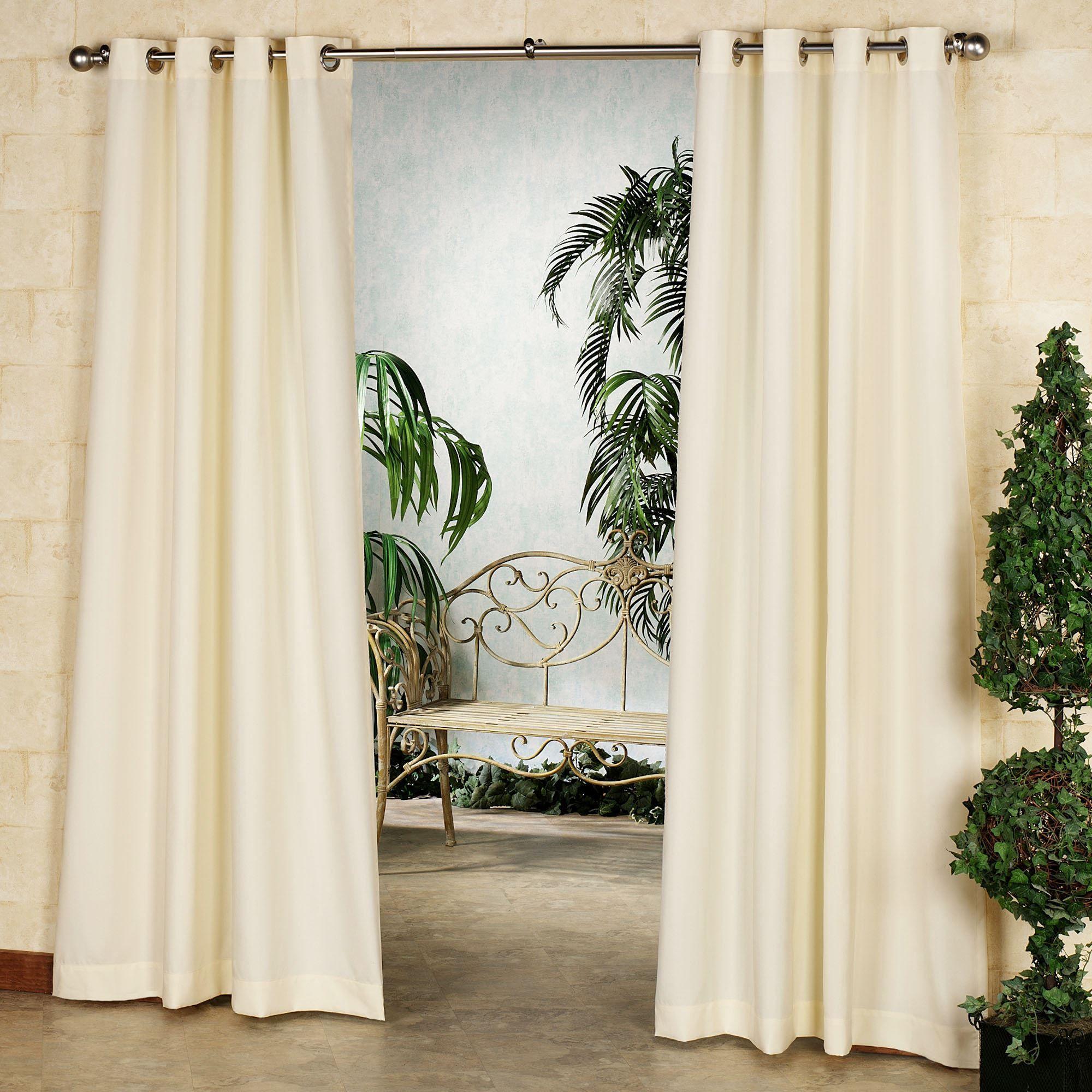 gazebo solid color indoor outdoor curtain panel