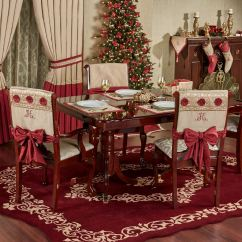 Chair Cover Christmas Decorations Orange Wingback Prestige Set With Sash Ties Covers Gold Of Two