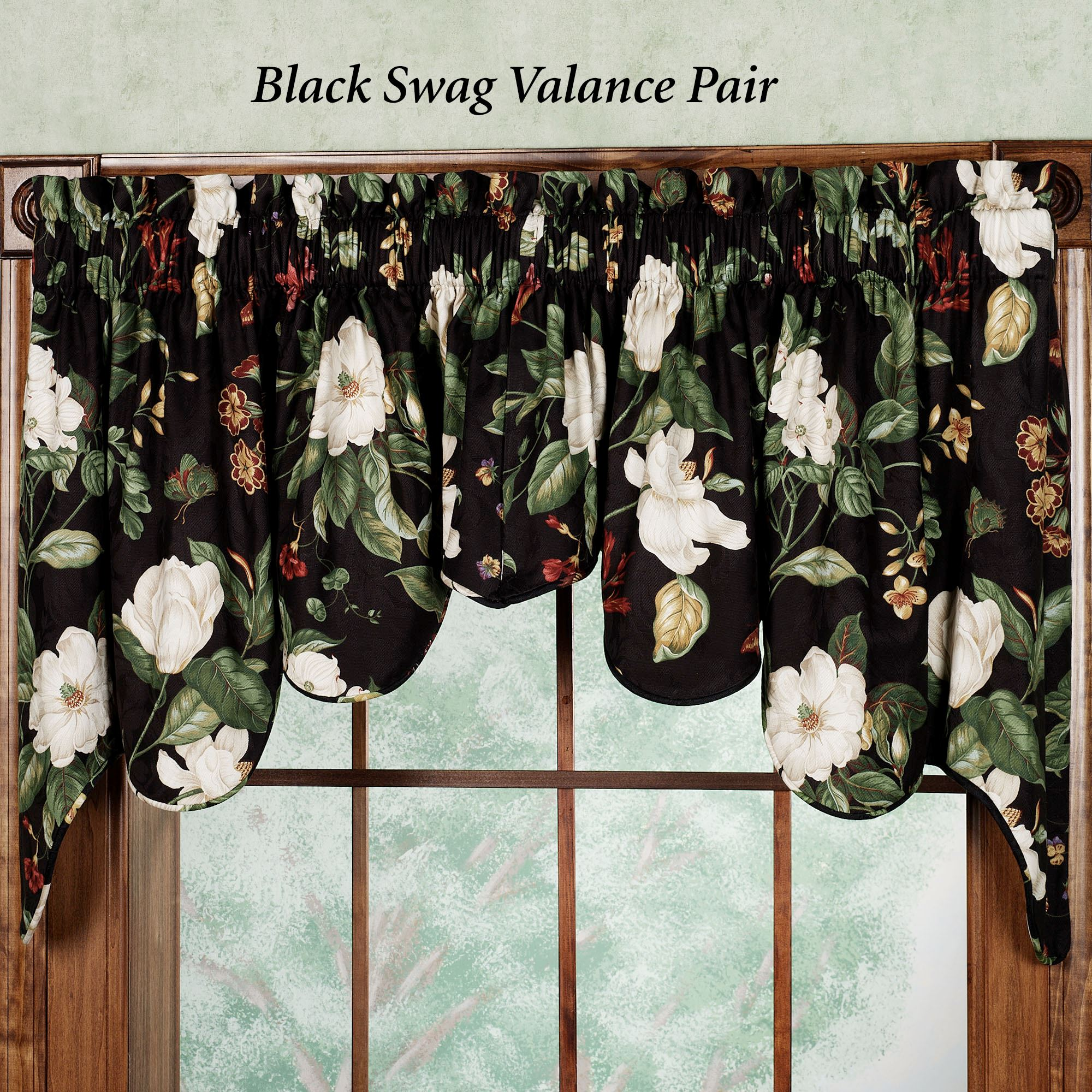 Garden Duchess Swag Valance Pair by Waverly