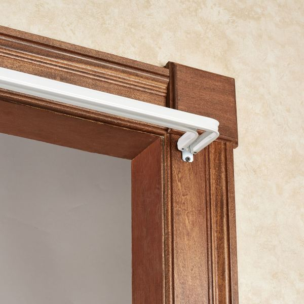 Arrietty White Metal Double Curtain Rod