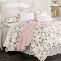 Rosalie Pink Floral Comforter Bedding by Piper & Wright