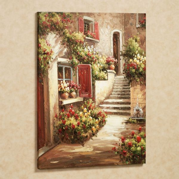 Tuscan Flowers Canvas Wall Art