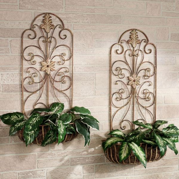 Decorative Metal Wall Planters