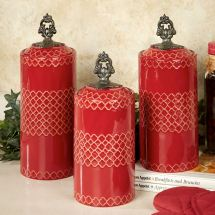 Safiya Moroccan Red Kitchen Canister Set