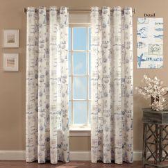 Kitchen Tier Curtains Undermount Porcelain Sink By The Seaside Coastal Grommet Curtain Panels
