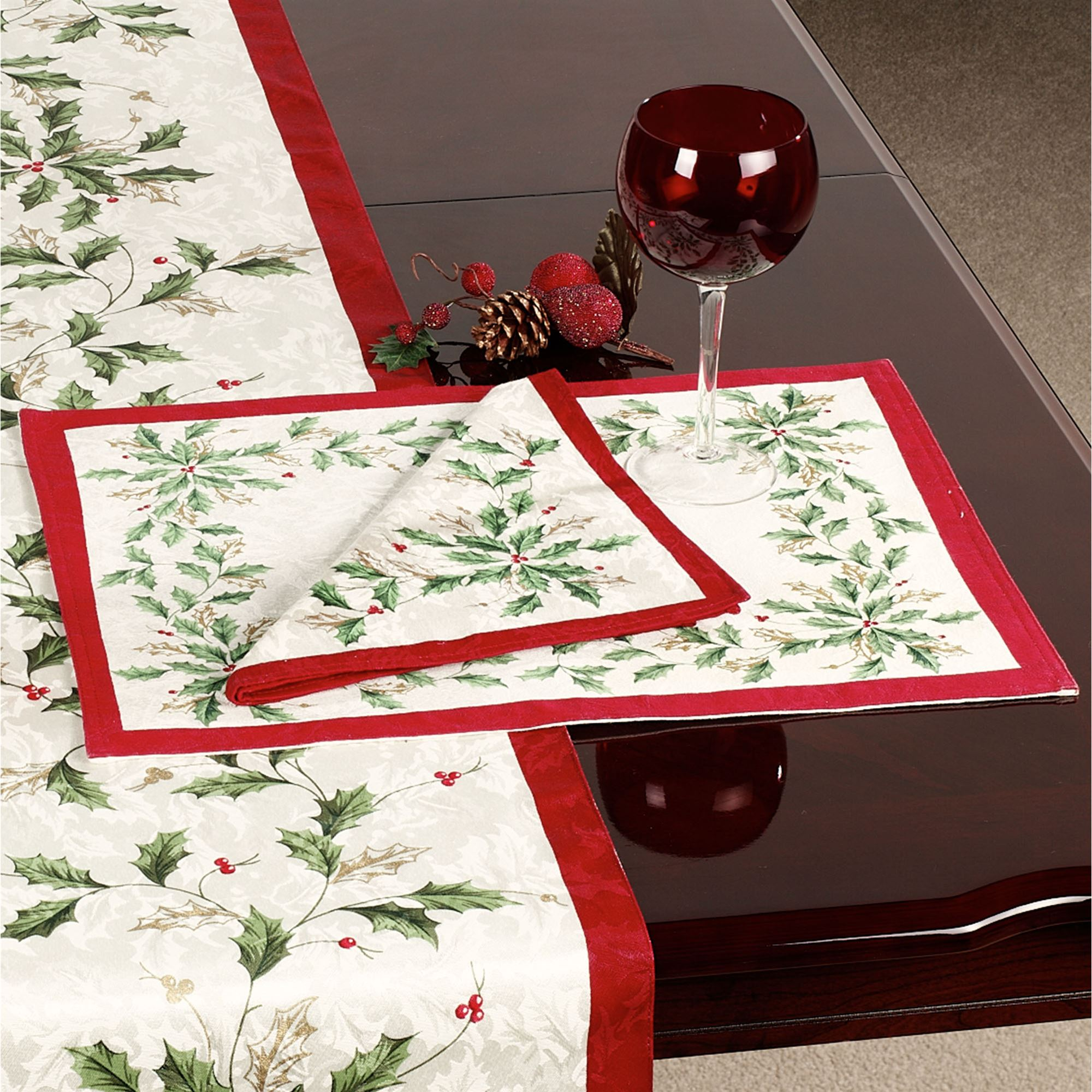 lenox christmas chair covers small comfy chairs holiday table runner touch to zoom