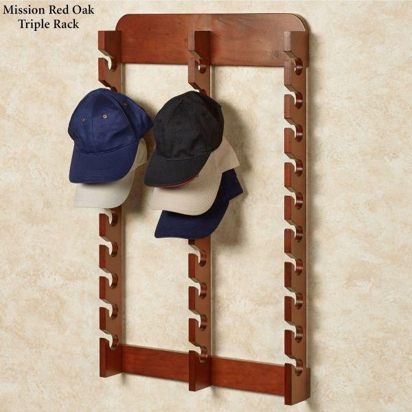 Wood Wall Cap Display Rack
