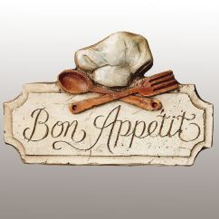 Kitchen Plaques Island Seats 6 Bon Appetit Wall Plaque Touch To Zoom