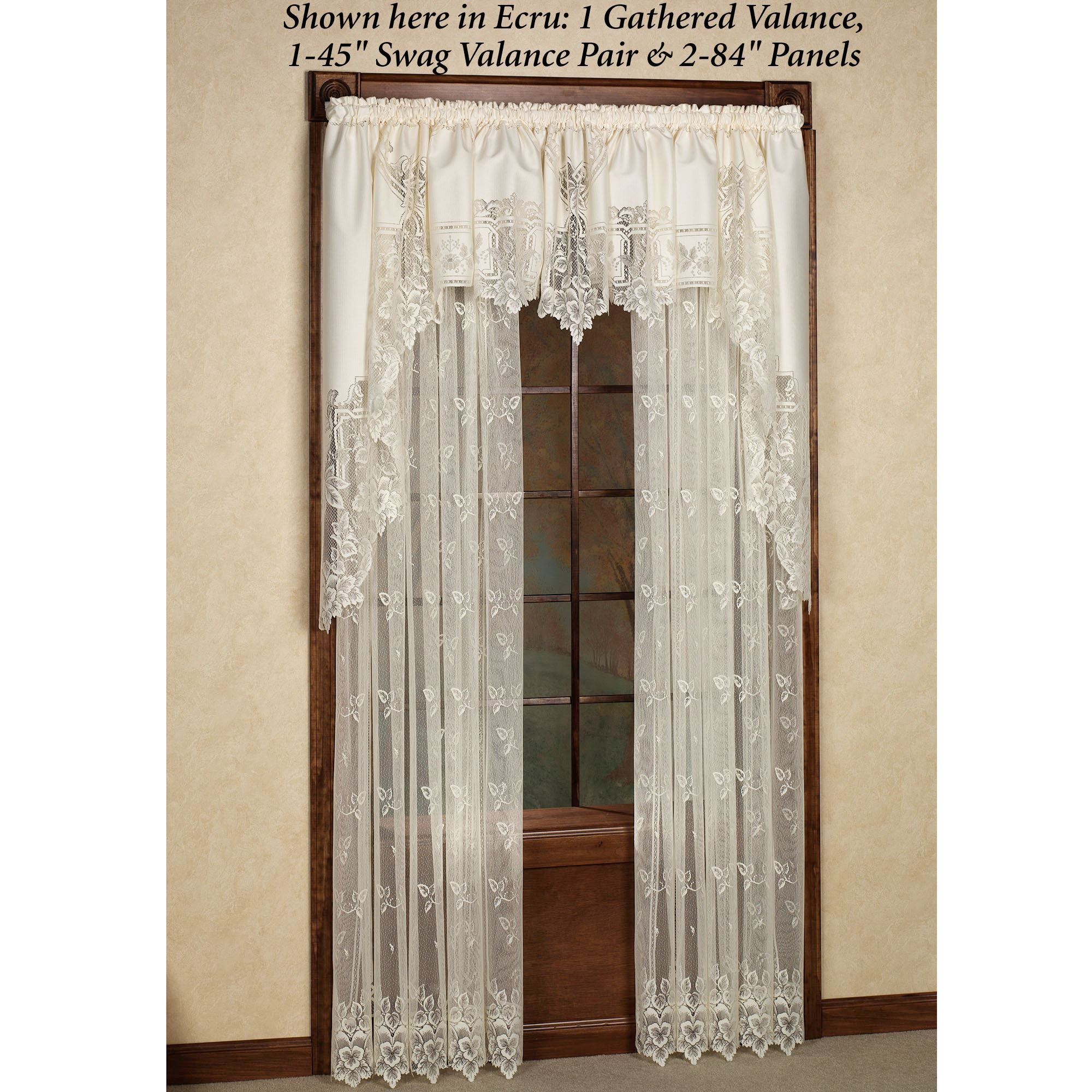 Heirloom Lace Panels Window Treatment