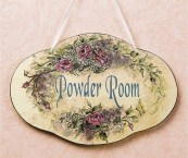 powder room signs