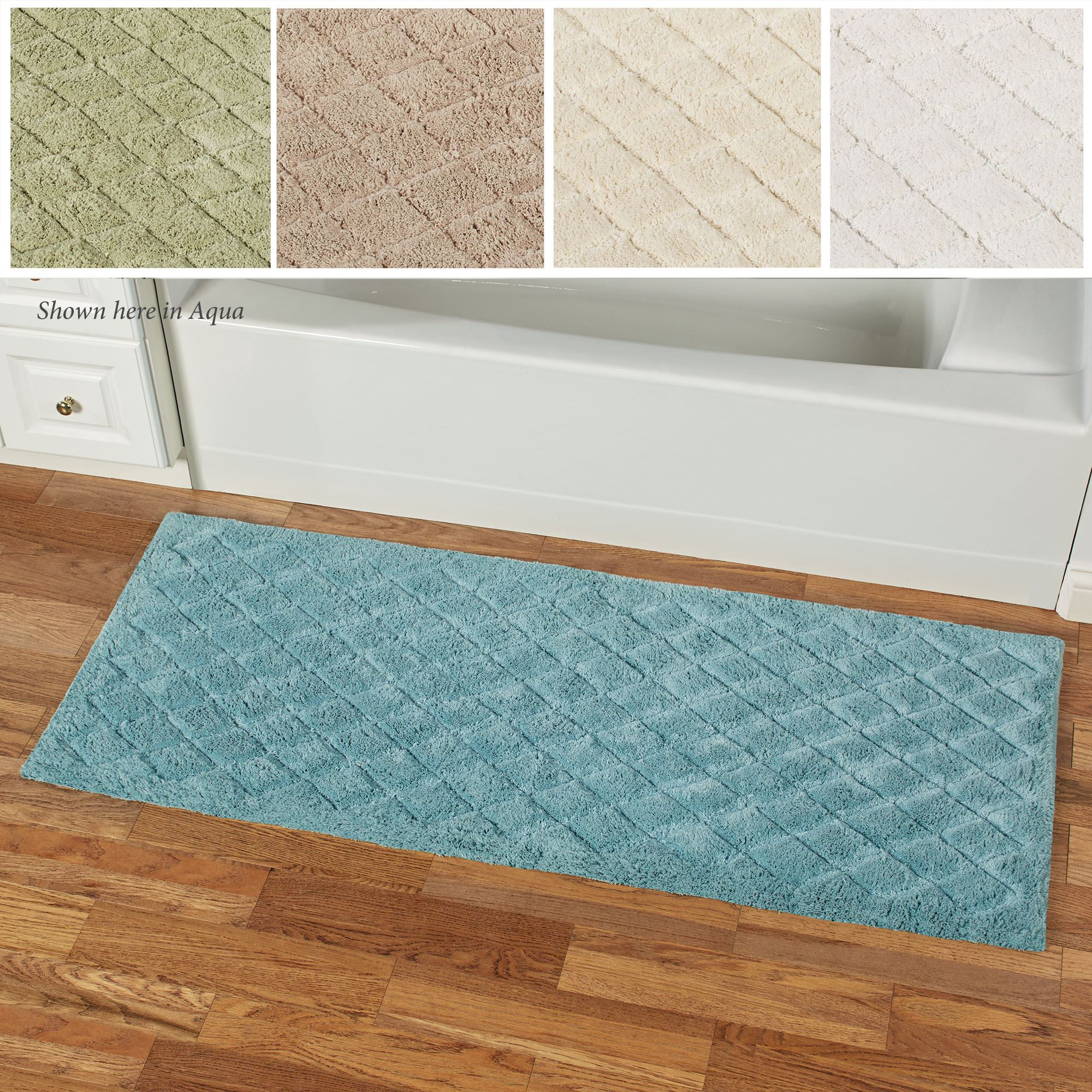 Splendor 60 Inch Wide Plush Bath Rug Runner
