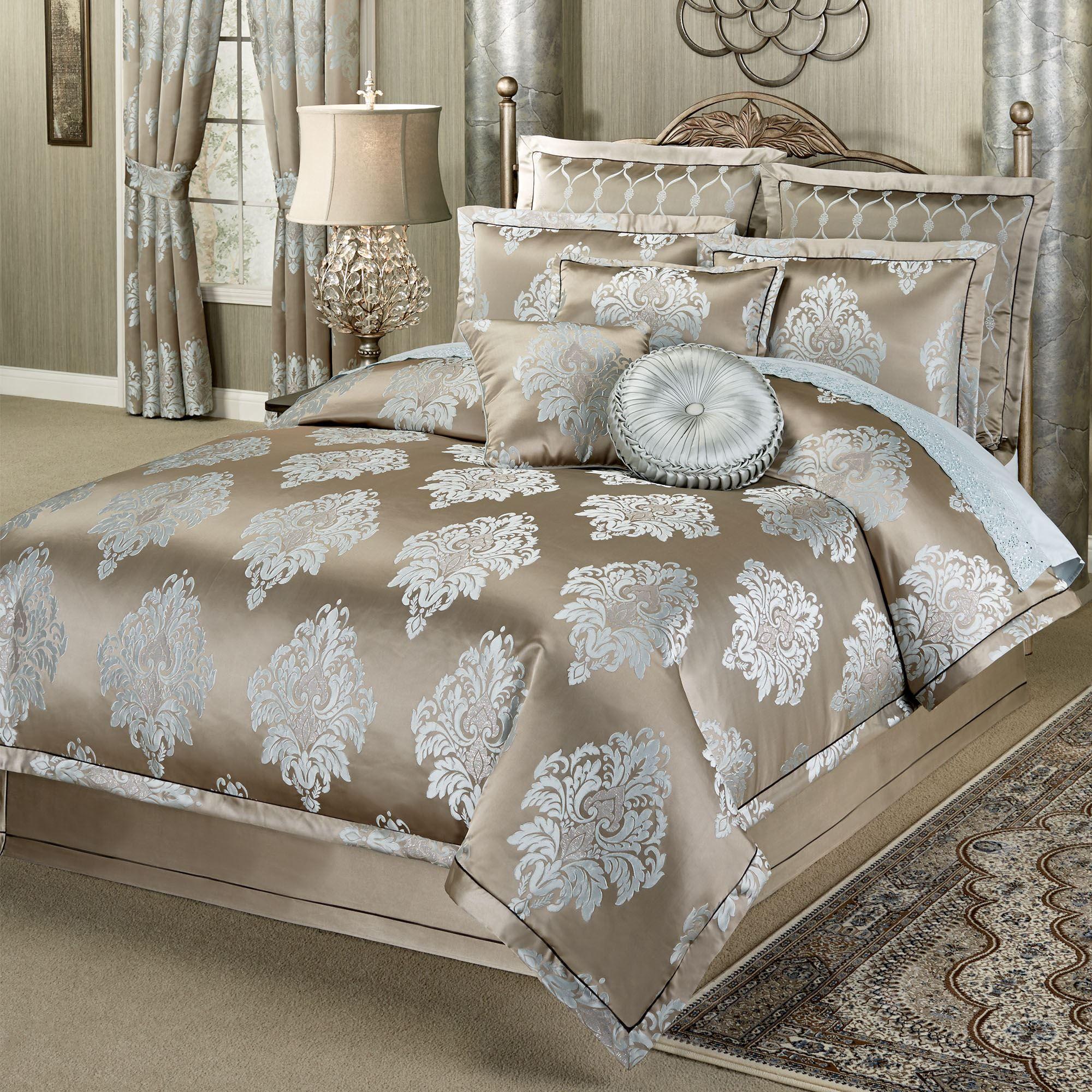 Athena Medallion Comforter Bedding by J Queen New York