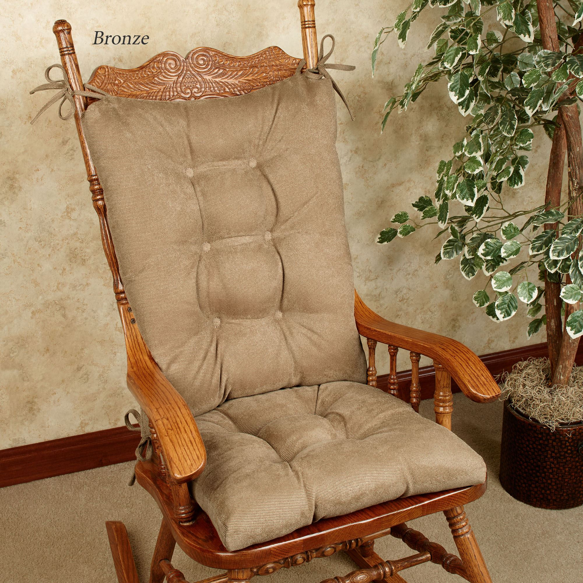 2 piece rocking chair cushions high back folding twillo slip resistant cushion set