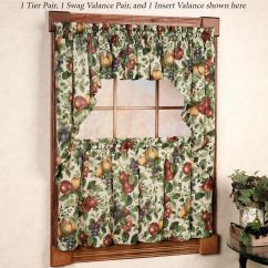 Fruit Kitchen Curtains Replacing Fluorescent Light Fixtures Sonoma Tier Window Treatments Touch To Zoom