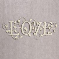 Blooms of Love Metal Word Wall Art