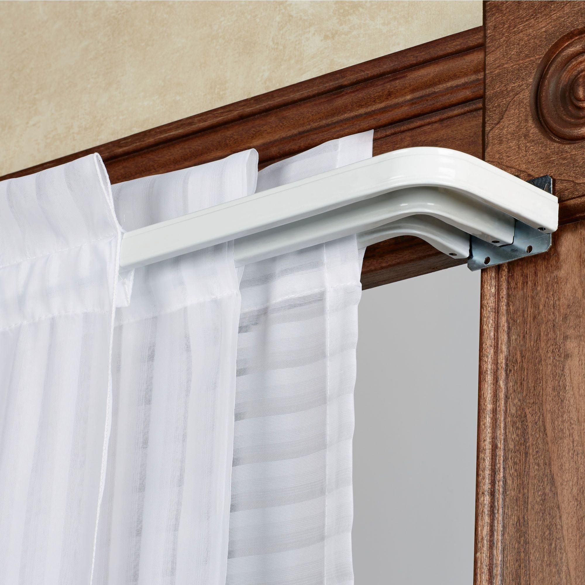 tripartite triple curtain rod set