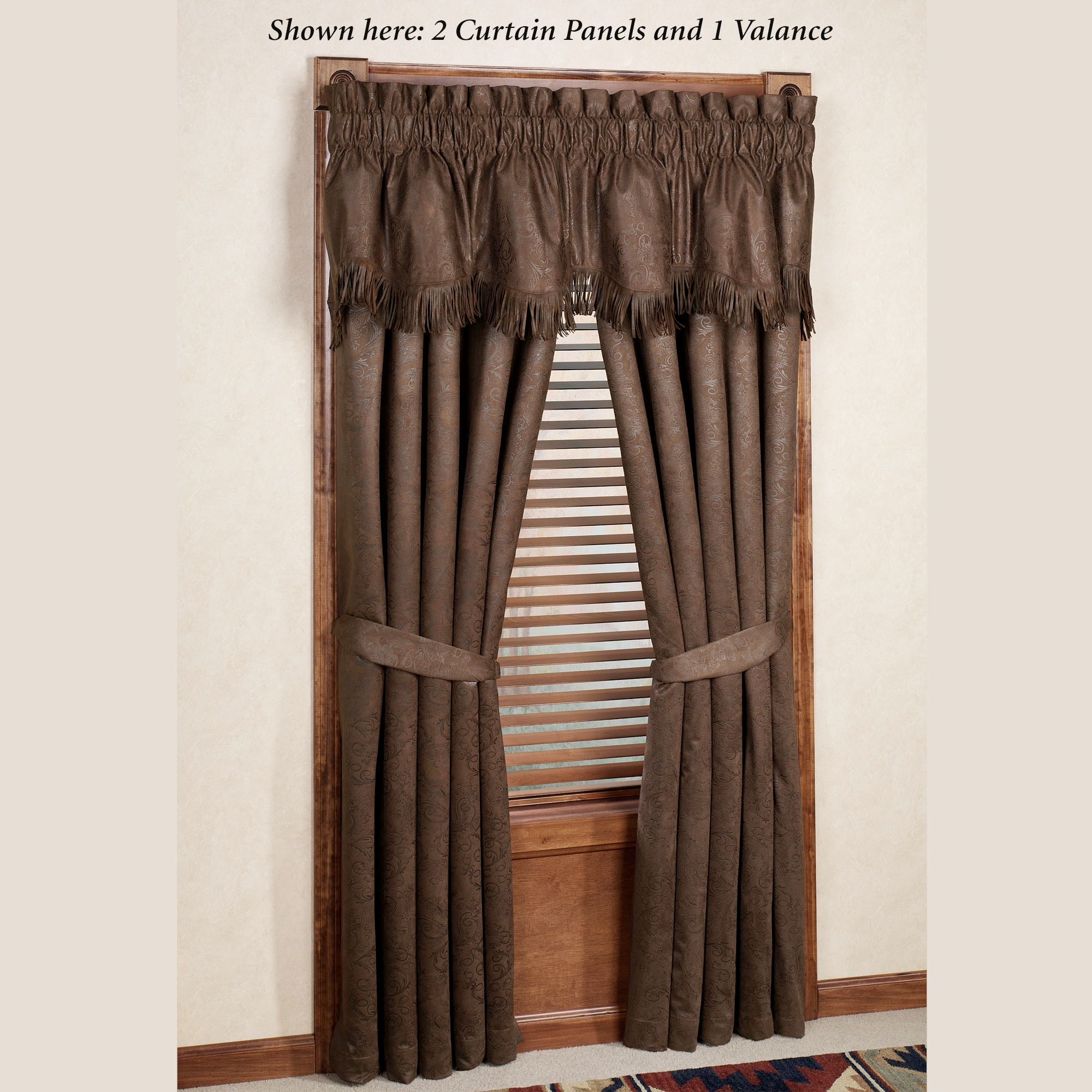 rustic kitchen valances lowes cabinet sale red rodeo western window treatments