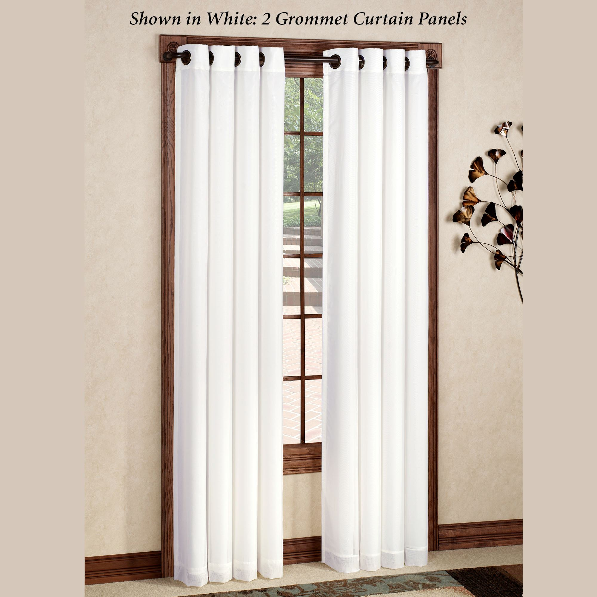 rhapsody thermavoile tm grommet curtain panel