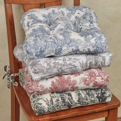 Dining Room Chair Pillows White Leather Bedroom Chairs Victoria Park Toile Cushion Set Of 2 15x14 Touch To Zoom